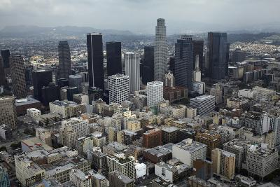 Aerial View. of Downtown Los Angeles-David Wall-Photographic Print