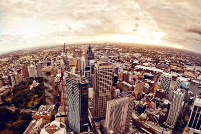 Aerial View of Downtown Sydney at Sunset, Australia.-Andrey Bayda-Photographic Print