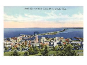 Aerial View of Duluth, Minnesota