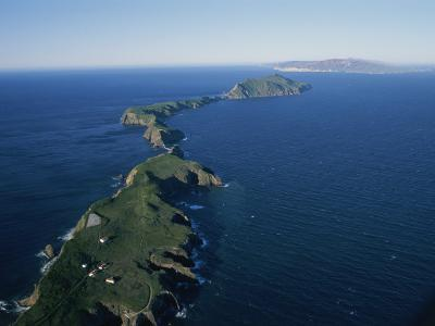 Aerial View of East Anacapa Island in the Channel Islands-Rich Reid-Photographic Print