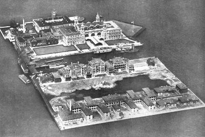 Aerial View of Ellis Island Immigration Station, New York, USA, 1926--Giclee Print