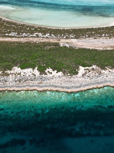 Aerial View of Exuma Cays, Bahamas-Onne van der Wal-Photographic Print