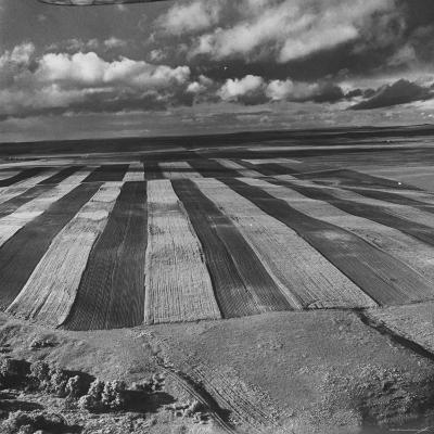 Aerial View of Farmland-Stan Wayman-Photographic Print