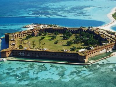 Aerial View of Fort Jefferson-Bob Krist-Photographic Print