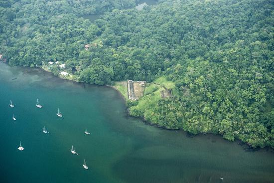 Aerial View of Fort San Fernando, Portobelo, Panama-Jonathan Kingston-Photographic Print