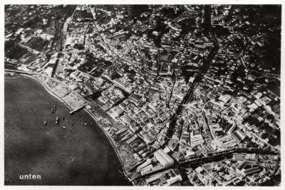 Aerial View of Funchal, Madeira, from a Zeppelin, 1928--Giclee Print