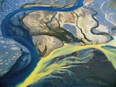 Aerial View of Glaciers-David Yarrow Photography-Photographic Print