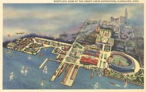 Aerial View of Great Lakes Exposition, Cleveland, Ohio