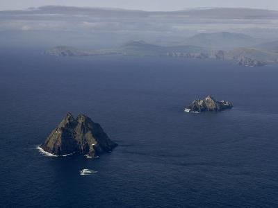 Aerial View of Great Skellig Michael and Little Skellig Island-James P^ Blair-Photographic Print