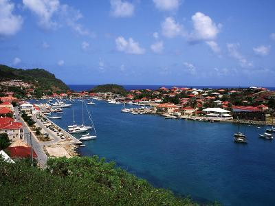 Aerial View of Gustavia Port, St. Barts, FWI-Bill Bachmann-Photographic Print