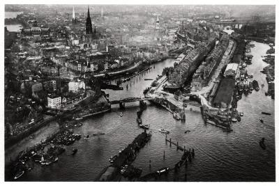 Aerial View of Hamburg Harbour, Germany, from a Zeppelin, C1931--Giclee Print
