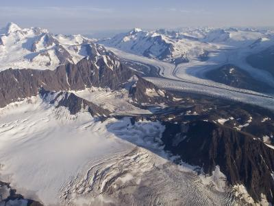 Aerial View of Harvard Glacier and Mount Marcus Baker, Alaska-Rich Reid-Photographic Print