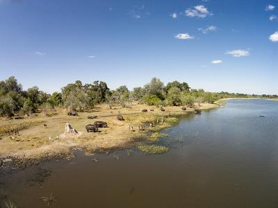 Aerial View of Hippo Pond, Moremi Game Reserve, Botswana-Paul Souders-Photographic Print