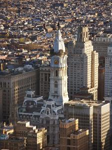 Aerial View of Historical Philadelphia City Hall in Philadelphia, Pennsylvania