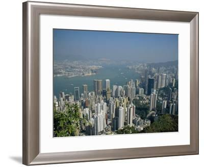 Aerial View of Hong Kong Harbour, China-Fraser Hall-Framed Photographic Print