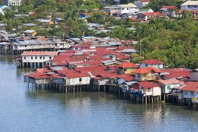 Aerial View of Houses on Stilts Along the Waterfront, Cebu City, Philippines-Keren Su-Photographic Print