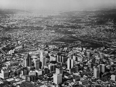 Aerial View of Houston and Surrounding Suburbs--Photographic Print