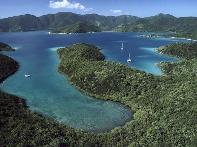 Aerial View of Hurricane Bay, Virgin Islands National Park, St John Island-Gerry Ellis-Photographic Print