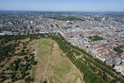 Aerial View of Hyde Park and London, England, United Kingdom, Europe-Alex Treadway-Photographic Print