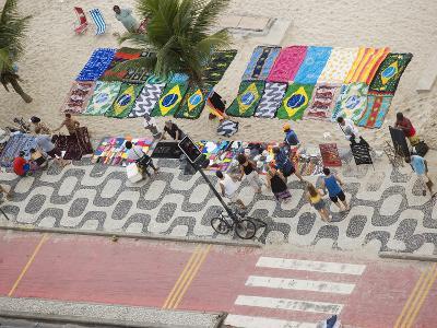 Aerial View of Ipanema Beach, Rio De Janiero, Brazil-Stuart Westmoreland-Photographic Print