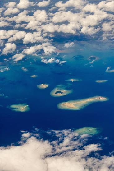 Aerial View of Islands in the Ocean, Indonesia-Keren Su-Photographic Print