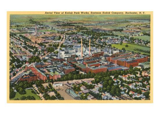 Aerial View of Kodak Park, Rochester, New York--Art Print