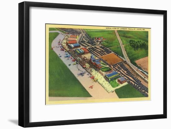Aerial View of Lambert Air Field - St. Louis, MO-Lantern Press-Framed Art Print