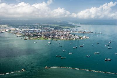 Aerial View of Limon Bay and the Port of Colon, Panama-Jonathan Kingston-Photographic Print