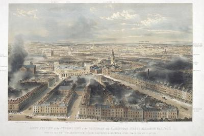 Aerial View of London, 1846--Giclee Print