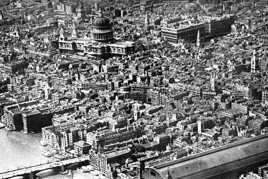 Aerial View of London, Showing St Paul's Cathedral, 1926--Giclee Print