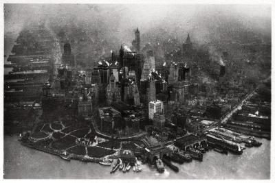 Aerial View of Manhattan, New York City, USA, from a Zeppelin, 1928--Giclee Print
