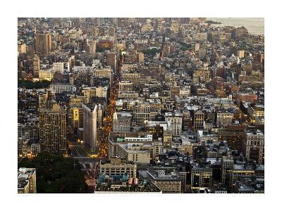 Aerial view of Manhattan, NYC-Michel Setboun-Art Print