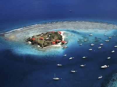 Aerial View of Marina Cay Island and Fringing Reef-Mauricio Handler-Photographic Print