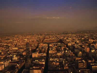 Aerial View of Mexico City, Mexico-Walter Bibikow-Photographic Print