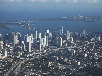 Aerial View of Miami, Florida, United States of America, North America-Angelo Cavalli-Photographic Print