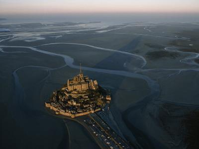 Aerial View of Mont-Saint-Michel, France-James L^ Stanfield-Photographic Print