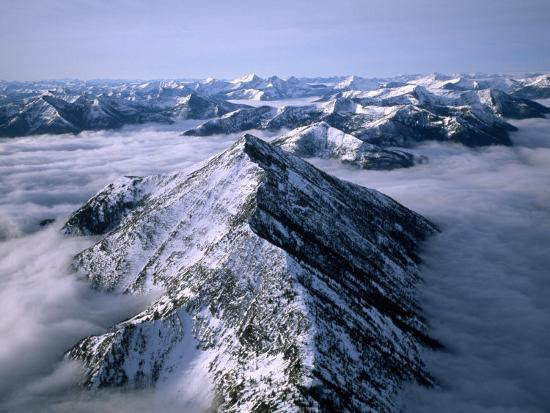 Aerial View of Montana's Rocky Mountain Front-Joel Sartore-Photographic Print