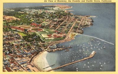 Aerial View of Monterey Bay, California