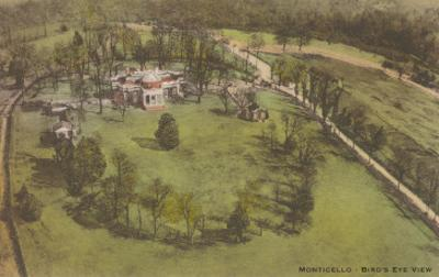 Aerial View of Monticello, Charlottesville, Virginia