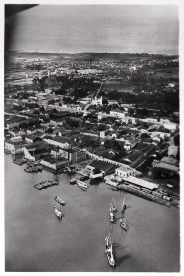 Aerial View of Natal, South Africa, from a Zeppelin, 1930--Giclee Print