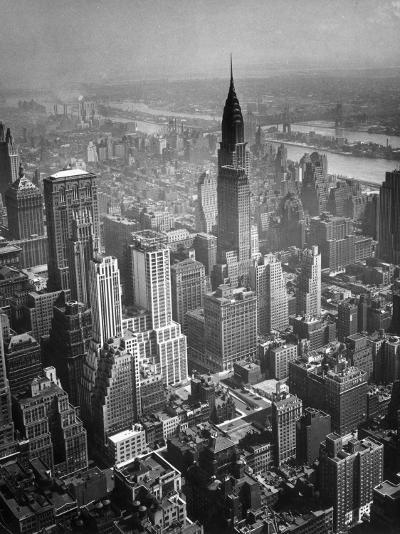 Aerial View of New York City-George Marks-Photographic Print