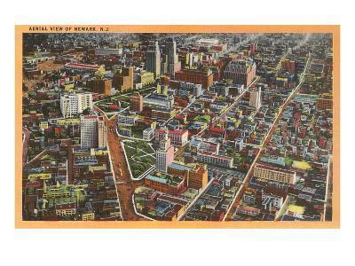 Aerial View of Newark, New Jersey--Art Print