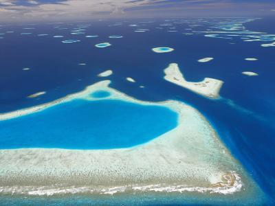 Aerial View of North Male Atoll, Maldives, Indian Ocean-Papadopoulos Sakis-Photographic Print
