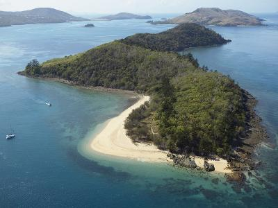 Aerial View of Offshore Islands, Queensland, Australia--Photographic Print