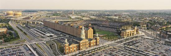Aerial View of Oriole Park at Camden Yards, Baltimore, Maryland, USA--Photographic Print