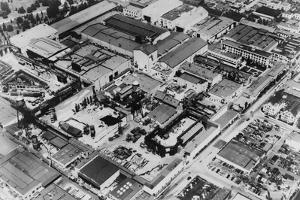 Aerial View of Paramount Studios in Hollywood, Ca. 1947