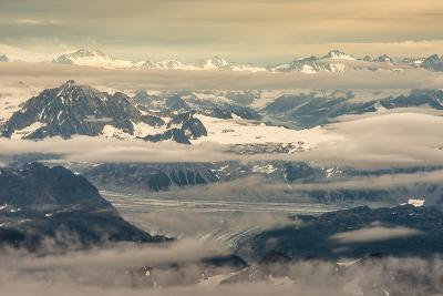 Aerial View of Part of Aleutian Mountain Range in Summer-Sheila Haddad-Photographic Print
