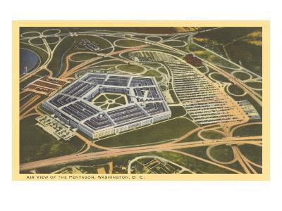 Aerial View of Pentagon--Art Print