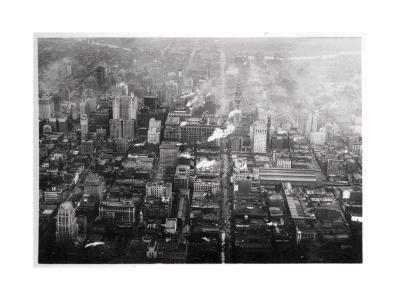 Aerial View of Philadelphia, Pennsylvania, USA, from a Zeppelin, 1928--Giclee Print