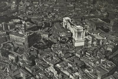 Aerial View of Piazza Venezia and the Forum Area--Photographic Print